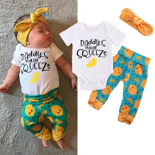 Newborn Baby Girl Цветочная одежда с коротким рукавом комбинезон + брюки комплект одежды