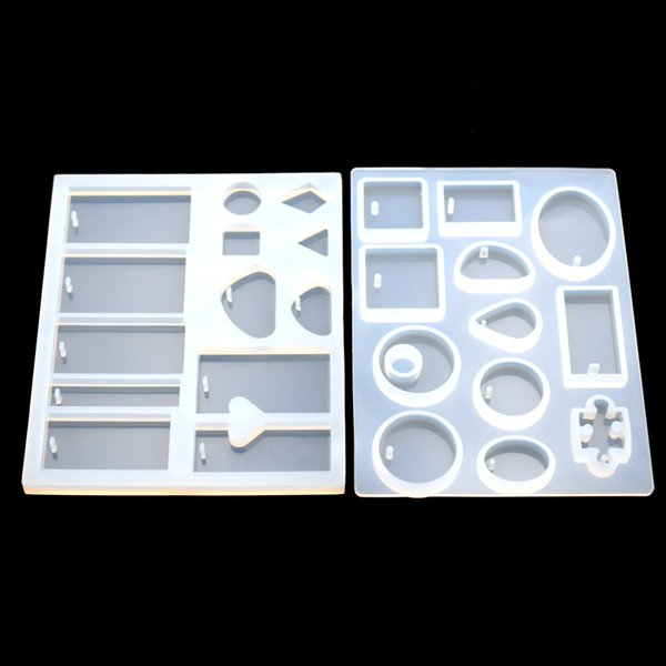 mold pendant SNASAN Pendant silicone Mold Resin Moulds handmade tool epoxy resin molds Square Round rectangle with hole