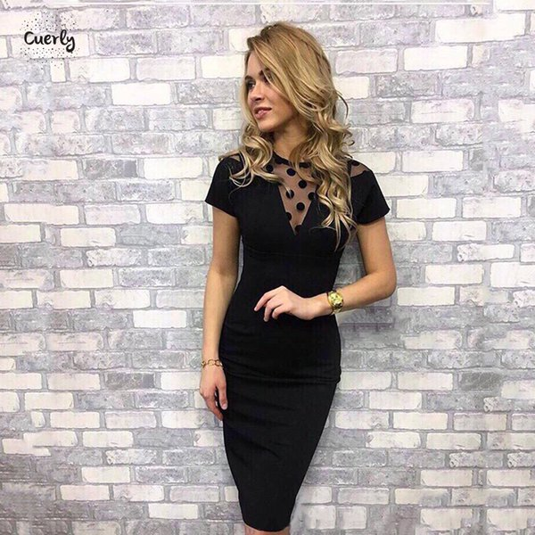 Women Sexy Dress Autumn And Winter Dresses Fitting Bottoming O Neck Short Sleeve New Lace Short Sleeve Knee Length Tight