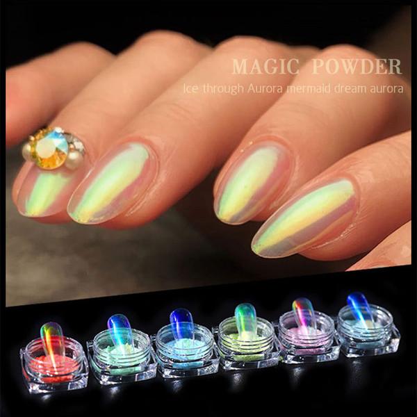 Herramienta de la manicura del arte Mejor Polvo Polvo desnuda Aurora Sinfónica de uñas para niñas QQ99