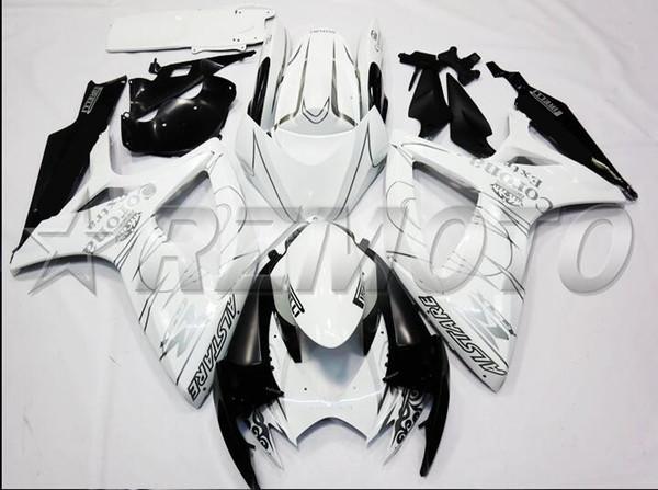 Nuevo kit de carenados de motocicleta ABS, adecuado para SUZUKI GSXR600 GSXR750 06 07 R600 R750 K6 GSXR 600 750 2006 2007 kits de carenado corona de plata