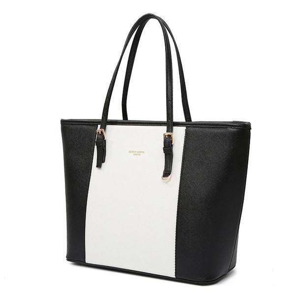 good quality 2019 Fashion Big Bags Pu Leather Women's Handbag Large Capacity Women Tote Bag Black Shoulder Bags Hand Bag