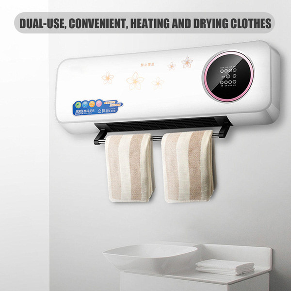 best selling 2000W Electric Timing Wall Mounted Heater Space Heating Air Conditioner W  Remote