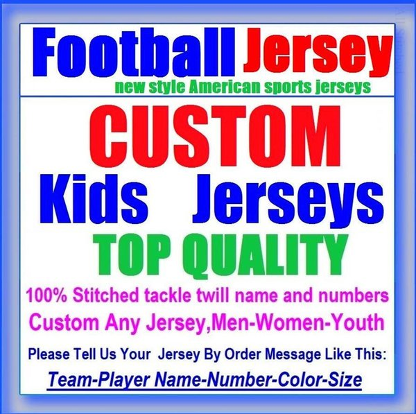 All Stitched Custom american football jerseys Baltimore Denver college authentic cheap baseball basketball mens womens youth USA 4xl tshirts