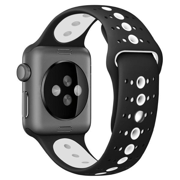 2019 Silicone Sport strap For Apple Watch 4 44mm 40mm IWatch band Series 4 3 2 1 Wrist Bracelet Belt rubber watchband belt