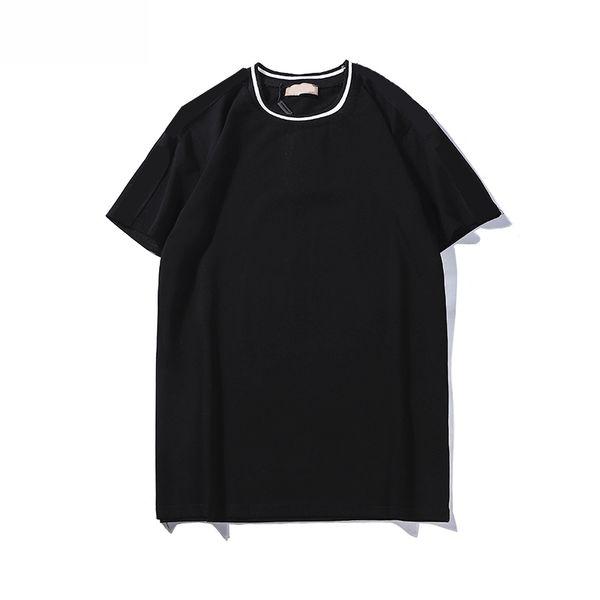 Designer Männer Frauen Marke T-Shirt Neue 2019 Sommer Schwarz und Weiß Luxus Design T-Shirt Marke Reine Farbe Mode Größe von S bis 2XL