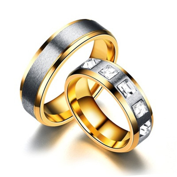 Stainless Steel Diamond Ring luxury designer jewelry women ring wedding engagement rings wedding rings sets men rings fashion 080452