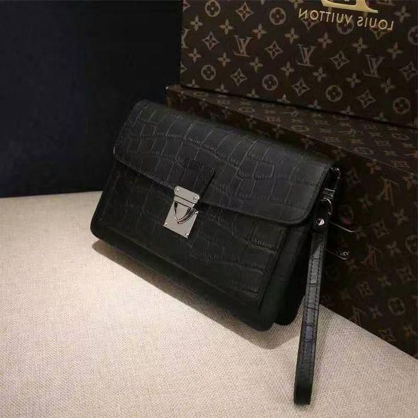 2019 M40852 Men New Leather Wallet Buckle Purse Clutch Bags Wallets Purse Mini Clutches Exotics Evening Chain Belt Bags