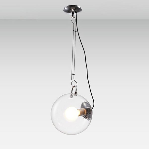 Modern Soap Bubble Pendant Lights Creative Fashion Home Decoration Lighting Clear Glass Pendant Lamps E27 Bulbs Diameter 25cm