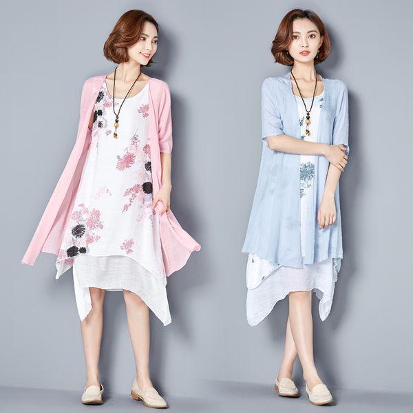 woman dresses plus size women clothing 2019 fashion two piece dress vintage print floral women plus size m loose casual dress vestidos