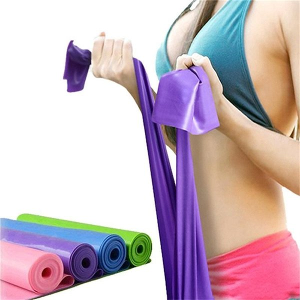 best selling New yoga Pilates Stretch Resistance Band Exercise Fitness Training yoga tension belt Elastic Stretch Band 1200MM FY7025