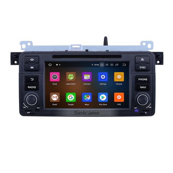 7 poucesAndroid 9.0 Radio de navigation GPS pour 1998-2006 BMW Série 3 E46 M3 avec écran tactile HD Prise en charge de Carplay Bluetooth WIFI OBD2 SWC VOITURE DVR