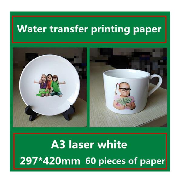 Papier d'impression par transfert d'eau A3 laser blanc Autocollants de décoration d'intérieur Suivant le transfert de conception de carreaux de céramique
