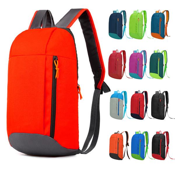 Women 10L Outdoor Sports Light Weight Waterproof Backpack Travel Hiking Bag Zipper Adjustable Camping Knapsack Men Children Pink