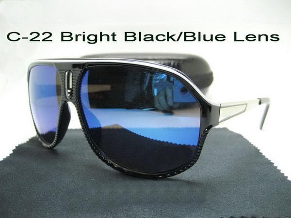 C-22 Bright Black / Blue Lens