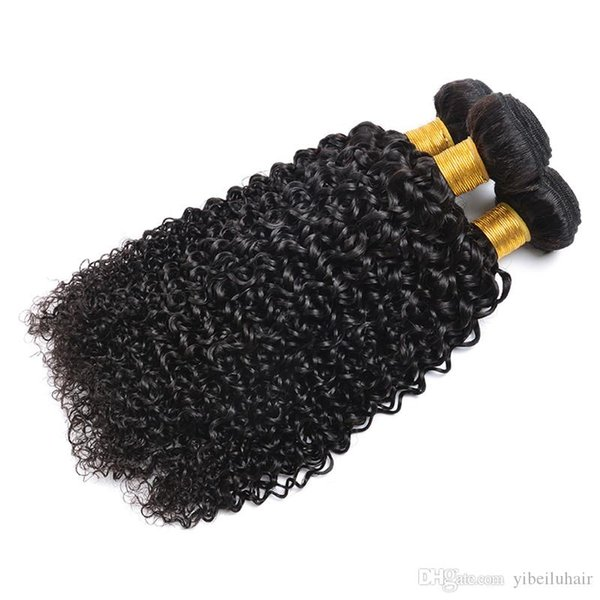 En Çok Satan ucuz Malezya kinky kıvırcık saç atkı 14 16 18 inç 8A hayır arapsaçı 100% virgin İnsan saç uzatma 3 demetleri