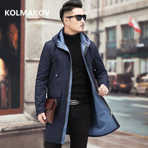 Autunno inverno Trench Giacca da uomo business double face Giacca Casual Cappotto uomo Cappotto giacca a vento di alta qualità