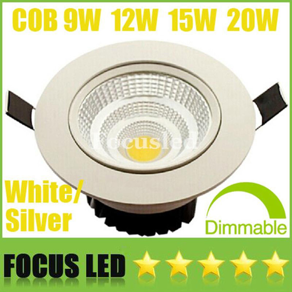 """top popular NEW Model 3.5"""" 4.5"""" 5.5"""" CREE 9W 12W 15W 20W Dimmable-Non COB LED Downlights High Bright Tiltable Fixture Recessed Ceiling Down Lights Lamps 2021"""