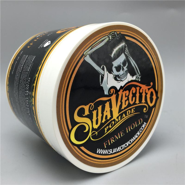 top popular Hot Waxes Strong Style Restoring Pomade Hair Gel Style Tools Firme Hold Big Skeleton Slicked Back Hair Oil Wax Mud 2021