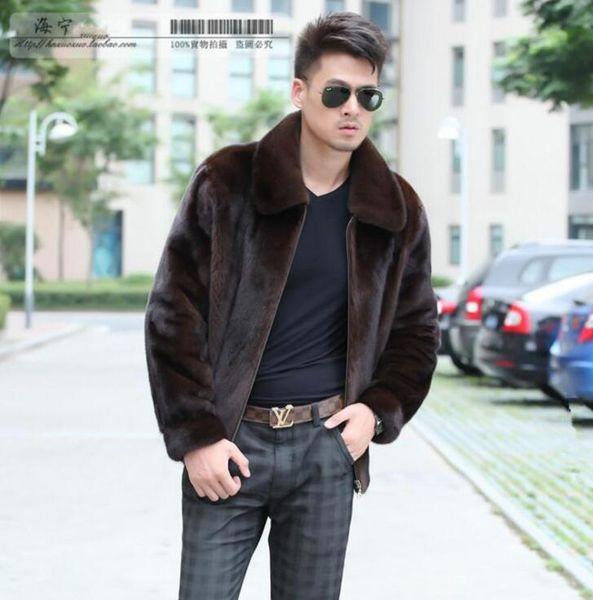 2019 Autumn Faux Mink Leather Jacket Mens Winter Thicken Warm Fur Leather Coat Men Slim Jackets Jaqueta De Couro Fashion Black Brown From Pamele,