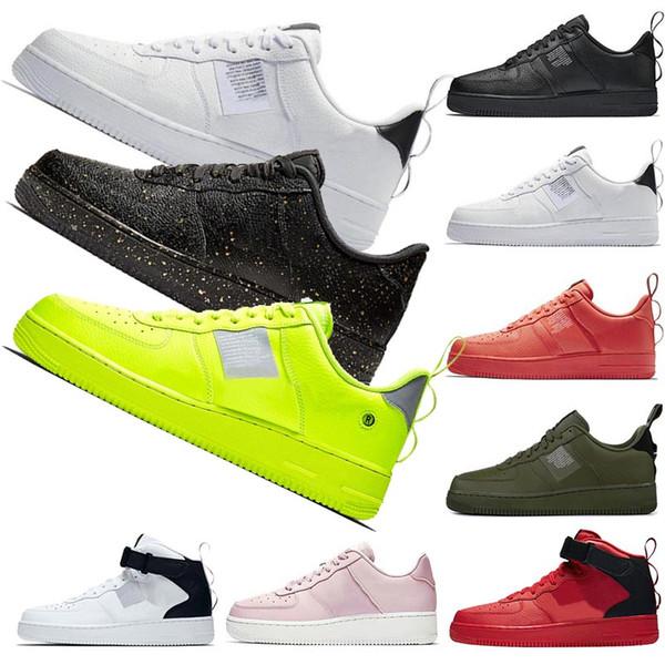 Compre NIKE AIR FORCE ONE AF1 Airmax Sapatos De Grife De Luxo Das Mulheres Das Mulheres Forces Classicl Vermelho Preto Trigo Branco Alto Low Mens