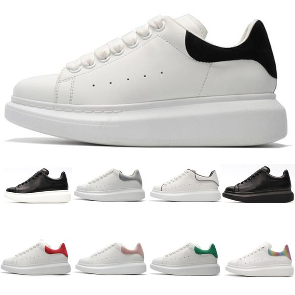 2019 luxury designer 3M reflective white black casual low cut shoes ladies men's fashion flat shoes outdoor sports shoes 36-44 free postage