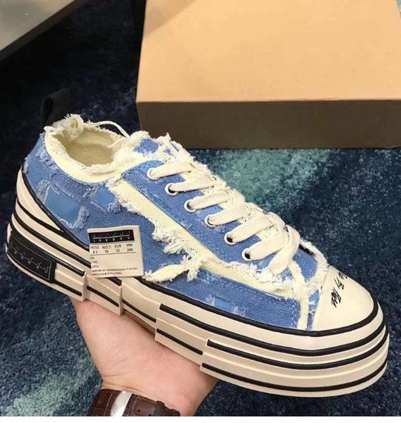 Casual Shoes XVessel G.O.P. Lows Canvas Shoes Mens Women TOP Quality Fashion Designer Vessel Tripe S Piece by Piece Speed shoes er73
