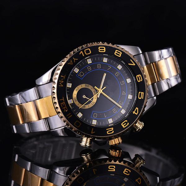 Luxury Slip Lock Ceramic Door Frame Basel Sapphire Glass Top-grade Fashion Automatic Quartz Stainless Steel Sports Men's Watch