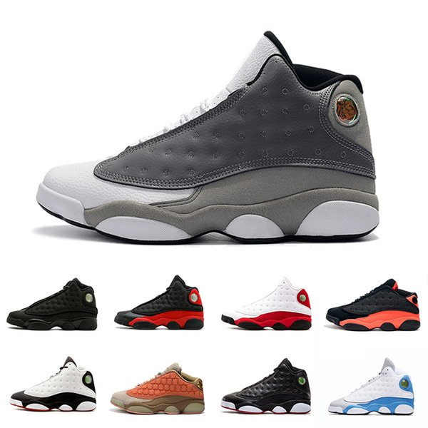 2019 Atmosphere Grey 13 13s Black Infrared Mens Bbasketball Shoes GS Terracotta Blush olive XIII OG Man bred sports Sneakers Athletics 8-13