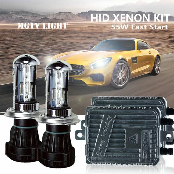 HID dell'automobile di trasporto libero lampada allo xeno Ac 12v55w Kit Slim Ballast H1 H3 H7 H8 / h9 / h11 H13 880/881 / H27 / H4 Bi-Xenon.4300k6000k8000k3000k