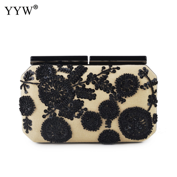 Vintage Handbags Evening Party Clutch Bags For Women 2019 Female Ladies Hand Bag Clutches Beaded Jute Embroidery Shoudler Purse