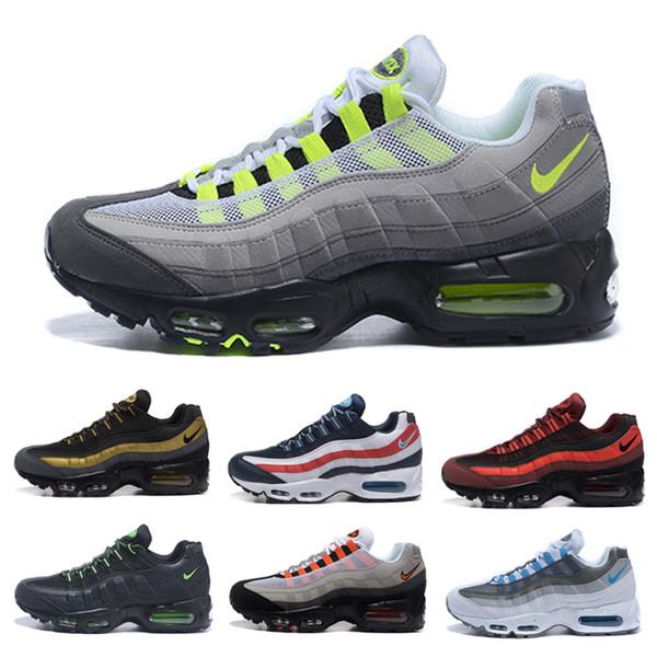 nike air max 95 airmax Scarpe da corsa da uomo originali chaussure homme s Uomo Sneakers sportive marrone Nero Bianco Sneakers firmate Zapatos 98 Taglia Eur 40-46 L5T465KZ