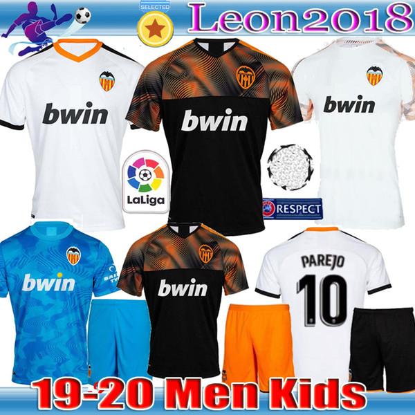 lowest price c8850 42d27 Men kid 2019 2020 valencia cf occer jer ey 19 20 parejo gameiro rodrigo  youth football jer ey c oler mina occer hirt