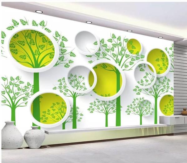 murs de papier peint moderne mur de fond de la télévision 3D 3D simple et élégant