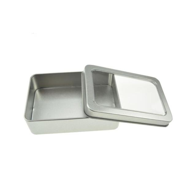 10,7 * 7 * 3cm fenêtre ouverte armoires métallique de stockage, boîtes d'étain emballage d'affichage en acier peut h en gros LX8531