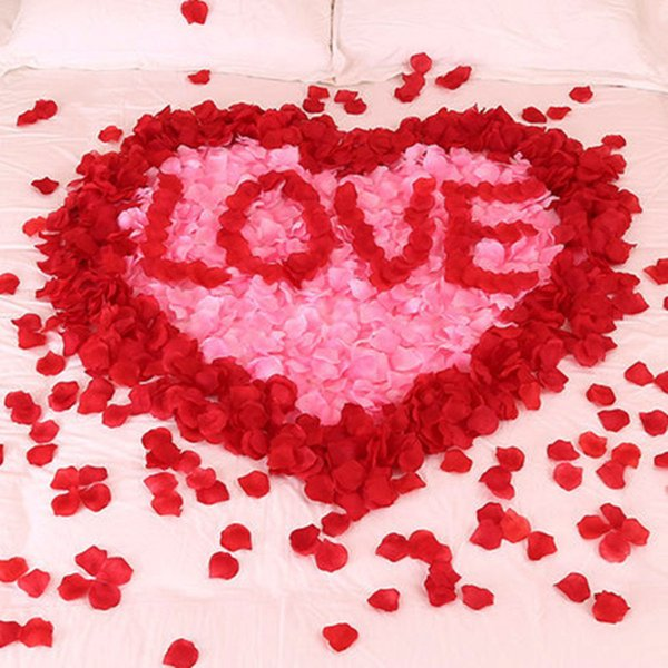 100pcs/Lots Artificial Silk Flower Rose Petal Fake Petals Petale de Rose Mariage Decoration For Wedding Party Accessories