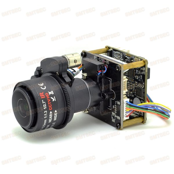 2.7-13.5mm 5x Video Zoom WDR 3MP IP Camera Module Low Light Sony IMX123 CCTV Smart Security IPC Main Board PCB SIP-E123DML-27135