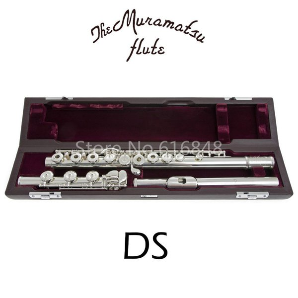 New Arrival Brand Muramatsu DS Cupronickel Silver Plated C Tune Flute With Case Free Shipping 17 Keys Holes Open Flute