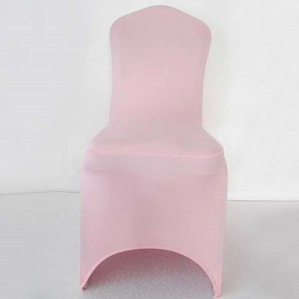 100pcs Extra Thick Light Pink Elastic Lycra Wedding Chair Covers Stretch Spandex Chair Covers For Hotel Banquet Decoration