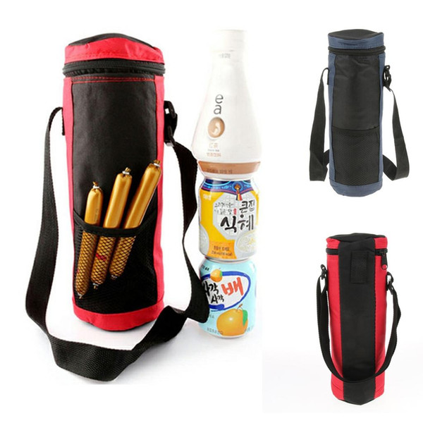 2L Insulated Bottle Drink Wine Carrier Tote Bag Travel Picnic Cooler with Strap Picnic Lunch Bag Cooler Camping Hiking Supplies