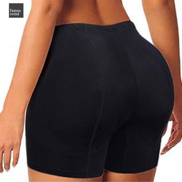 Moldeadores atractivo Boyshort Mujer Cuerpo Culo falso de la ropa interior empuja hacia arriba las bragas con relleno de glúteos Shaper Butt Lifter Enhancer