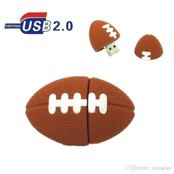 American Football Pen drive Sports Rugby U Disk 4GB 8GB 16GB 32GB USB Flash Drive Memory Stick Pendrive gift real capacity 108