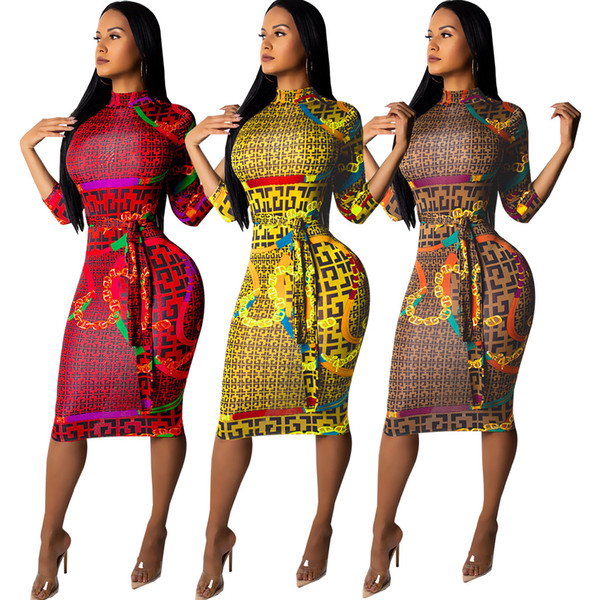 Vestidos del Club Sexy de las mujeres Primavera Otoño Vestido F de Bodycon Lápiz Femenino Ropa