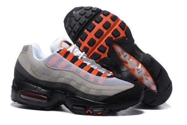 Compre Nike Air Max 95 Airmax Nuevo Air Men Casual Zapatillas De Running Negro Oro Rojo Chaussures Blanco Diseñador Entrenador Deportes Hombre Maxes