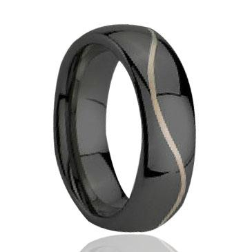 Classic Wave line laser engraving pictured Tungsten Ring wholesales 8mm