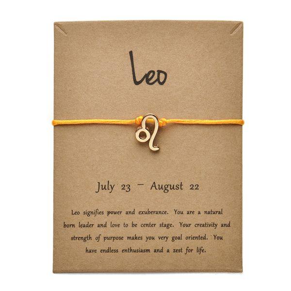 Tarjeta de oro amarillo Leo-Gold