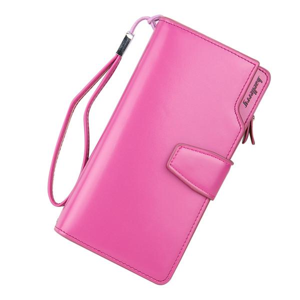 Venda quente Mulheres Embreagem Carteira De Couro Fêmea Longo Carteira Mulheres Bolsa Com Zíper Bolsa de Dinheiro Bolsa Para iPhone