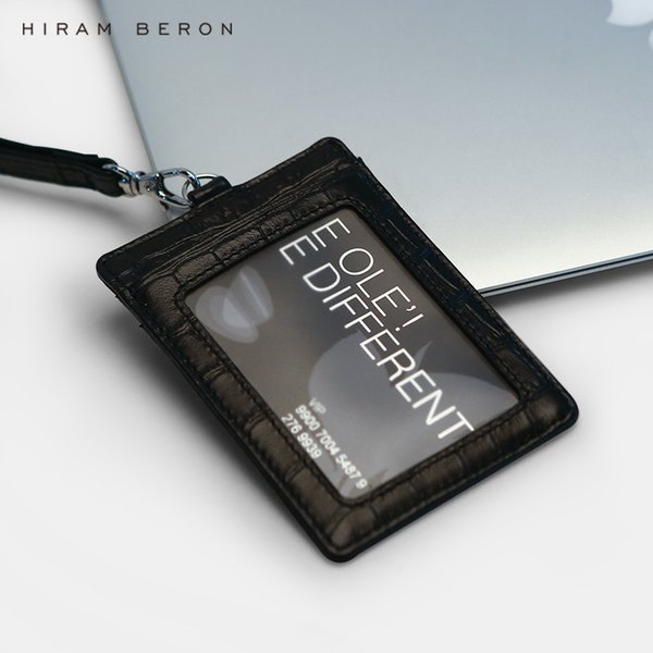 Hiram Beron Custom Name Service Badge Id Card Holder Case For Staff Work With Retractable Lanyard Y19052202