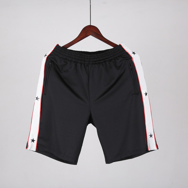 Fashion-18ss Europe Paris American Stars Fashion Men Luxury Sport Shorts Casual Women Beach band satin jersey Pants