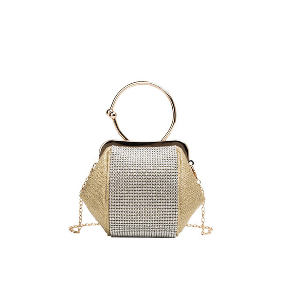 Evening Clutch Bags women Diamond handbag With Chain Shoulder Bag Women Ring handle totes party dinner Bag For Wedding 2019 new